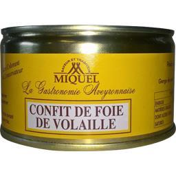 Miquel Confit de foie de volaille la boite de 190 g