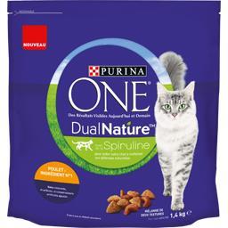 One - Croquettes Dual Nature au poulet pour chats ad...