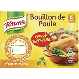 Knorr Bouillon de poule les 15 tablettes de 10 g - offre spéciale