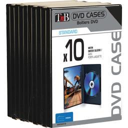 Boîtiers DVD noirs avec porte-jaquette
