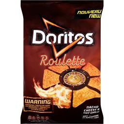 Chips de maïs Roulette goût fromage et piment fort
