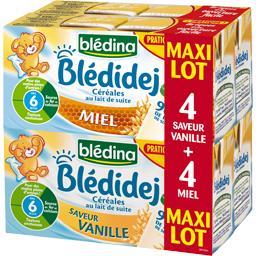 Blédidej Croissance - Céréales lactées biscuité saveur vanille, dès 12 mois