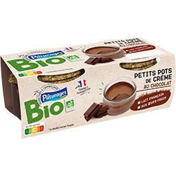 Bio Pâturages Petits pots de crème au chocolat BIO les 2 pots de 100 g