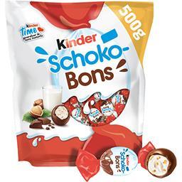 Schoko-Bons - Bonbons de chocolat fourrés lait et no...