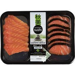 Labeyrie Comptoir Sushi - Sashimi délice la barquette de 12 pièces - 175 g