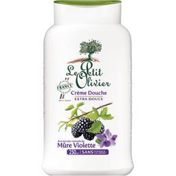 Crème douche mûre violette