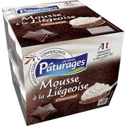 Pâturages Mousse à la liégeoise les 8 pots de 80 g