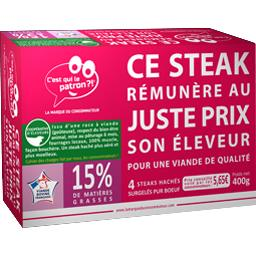 Steaks hachés pur bœuf 15% MG
