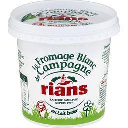 Le fromage blanc de Campagne,RIANS,le pot de 500 g