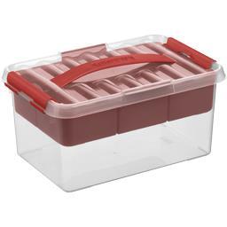 Boite Q-line 6 l avec insert transparent/rouge