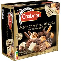 Assortiment de biscuits aux 3 chocolats belges