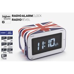 Radio réveil bleu Union Jacq RR30GB