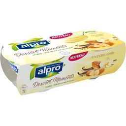 Alpro Desserts Moments - Dessert végétal amandes vanille les 2 pots de 125 g