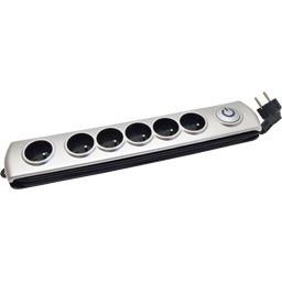 Bloc + T Silver avec interrupteur 230V-50Hz 16A