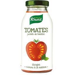 Soupe tomates pointe de basilic
