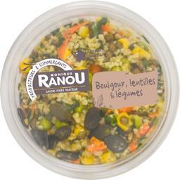 Salade boulgour, lentilles & légumes