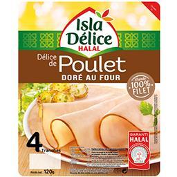 Délice de poulet halal doré au four