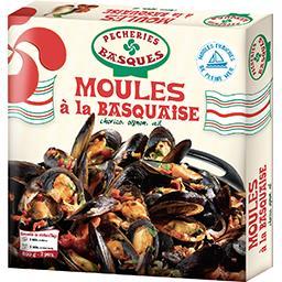 Pêcheries Basques Moules à la basquaise la boite de 600 g