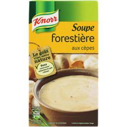 Soupe forestière aux cèpes