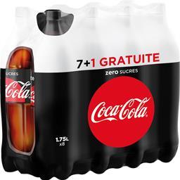 Coca-Cola Soda au cola Zéro Sucres les 7 bouteilles de 1,75 l