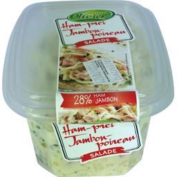 Maître Olivier Salade de jambon poireau la barquette de 250 g