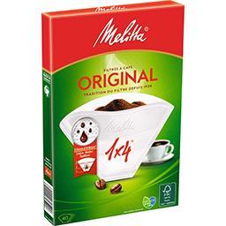 Filtres à café 1x4 blanc