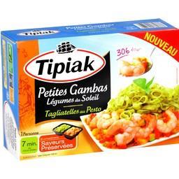 Petites Gambas légumes du soleil/Tagliatelles au Pes...