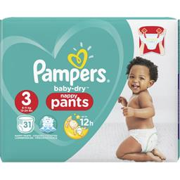 Pampers Baby-dry - pants - taille 3 6-11 kg - couches-culott... Le paquet de 31