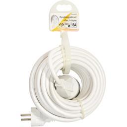 Prolongateur électrique 3G1,5mm 10m 16A, blanc
