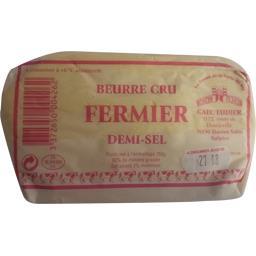 Beurre cru fermier demi-sel