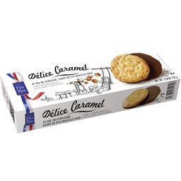 Délice caramel au sel de Guérande nappé de fin choco...