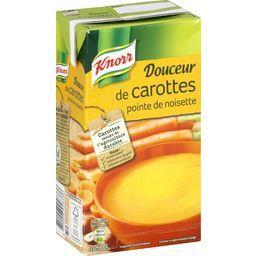 Soupe Douceur de carottes pointe de noisette