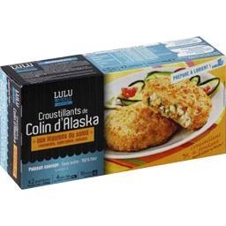 Lulu le Merlu Croustillants de colin d'Alaska aux légumes du soleil la boite de 2 portions - 240 g