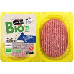 Bio Jean Rozé Steaks hachés BIO 5% MG la barquette de 250 g