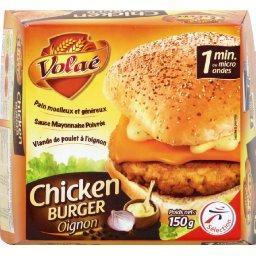 Chicken burger oignon