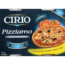 Sauce Pizziamo, préparation pour pizza