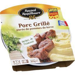 Porc grillé purée de pommes de terre
