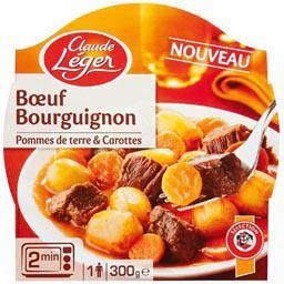 Bœuf bourguignon, pommes de terre & carottes