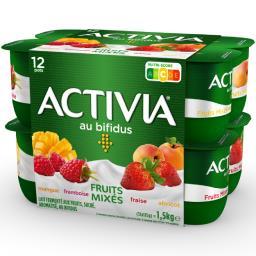 Activia - Lait fermenté au bifidus fruits mixés