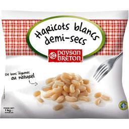 Haricots blancs demi-sec, mogettes, surgelé