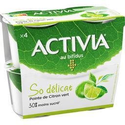 Danone Danone Activia - Lait fermenté au bifidus So délicat pointe... les 4 pots de 120 g