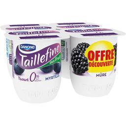 Danone Taillefine Yaourt myrtille et mûre 0% MG