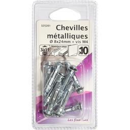 Chevilles métalliques 8x24mm + vis M4