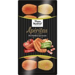 Madeleines tomate lardon oignon