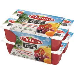 Sans Sucres Ajoutés - Spécialités de fruits 4 parfum...