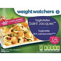 WeightWatchers Tagliatelles Saint Jacques 10 pts la barquette de 380 g