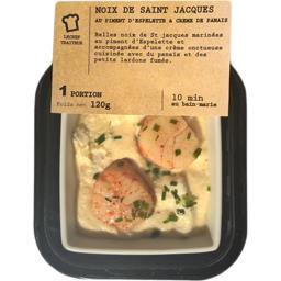Noix de Saint-Jacques au piment d'Espelette crème de panais