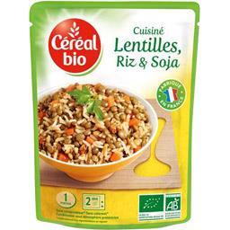 Cuisiné Lentilles, riz et soja BIO