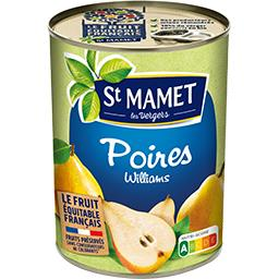 Poires william demi-fruits au sirop