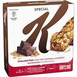 Special K - Barres de céréales chocolat noir